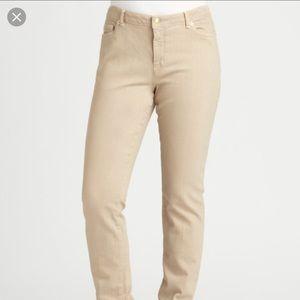 Michael Kors natural khaki skinny jeans